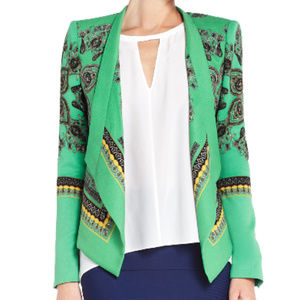 BCBG MAXAZRIA abree sz S open crop blazer jacket